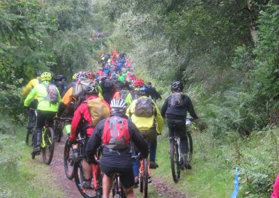 Mountain biking event