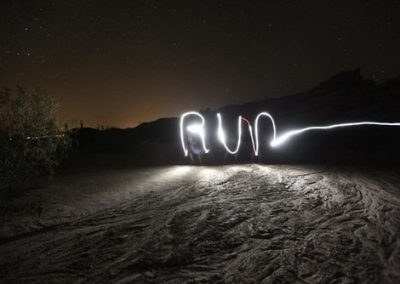 night-run torch sign